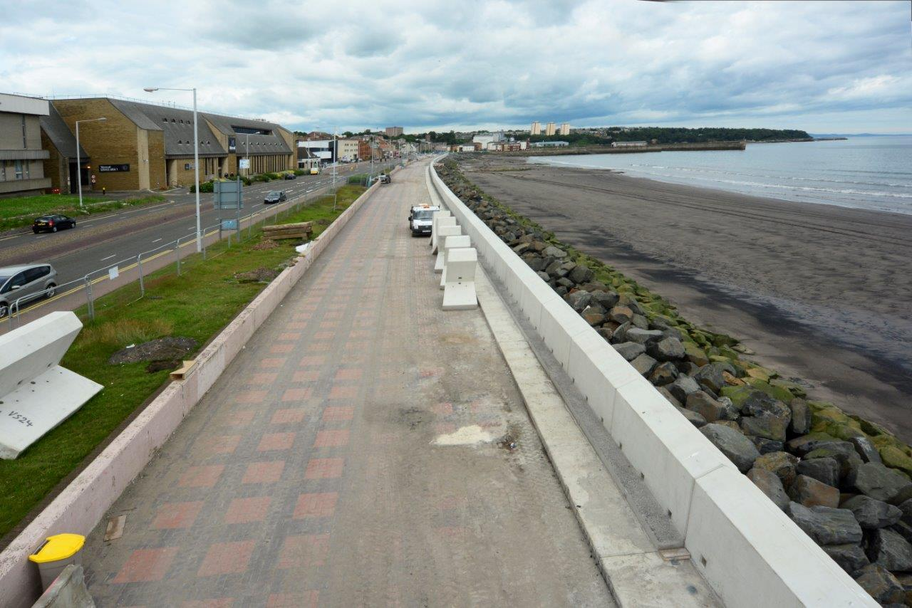 Kirkcaldy sea wall repairs