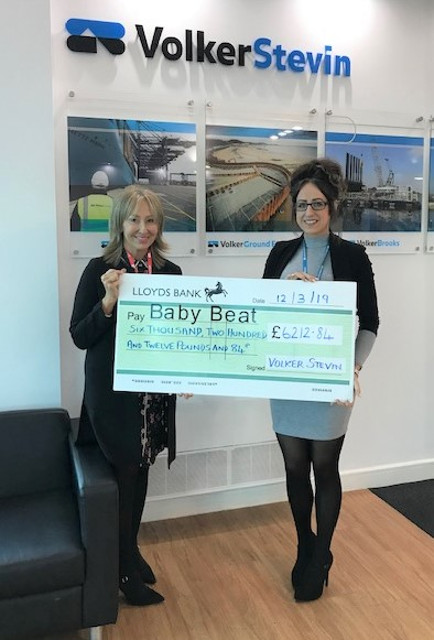 Baby Beat Appeal cheque